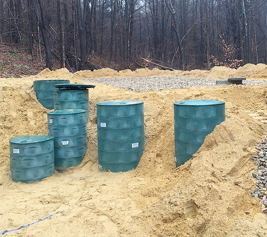 Photo of installed NORWECO Singulair septic system