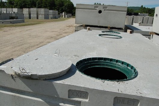 Plant Precast Concrete Septic Tank Construction : Precast concrete septic tanks