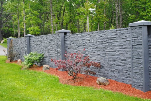 Photo of decorative concrete fence.