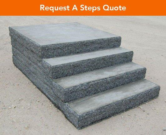 Photo of precast concrete steps