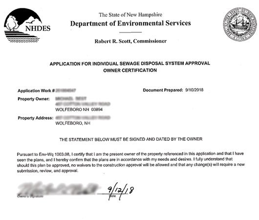 NH septic system permit.