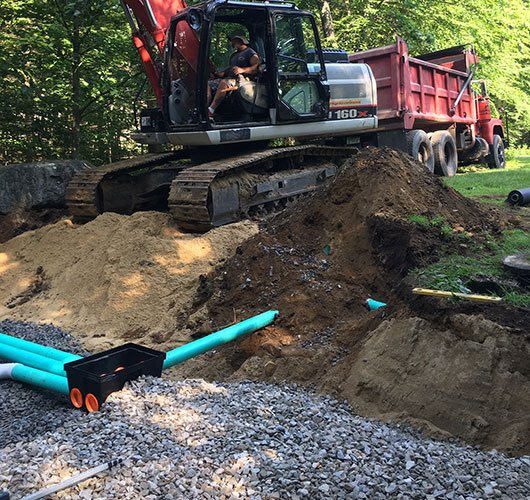 New septic system installation cost.
